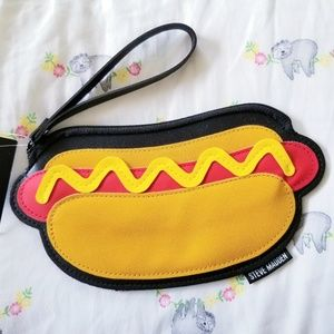 Steve Madden Hot Dog Wristlet NWT